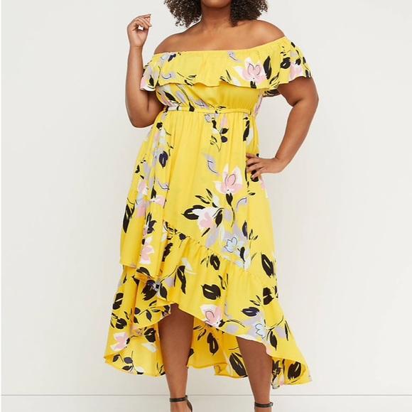 eba541fb566d Lane Bryant Dresses | Offtheshoulder Ruffle Maxi Dress | Poshmark
